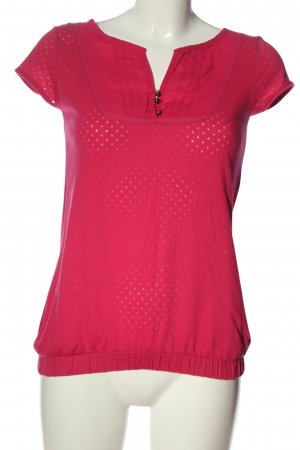 QS by s.Oliver T-Shirt pink Allover-Druck Elegant