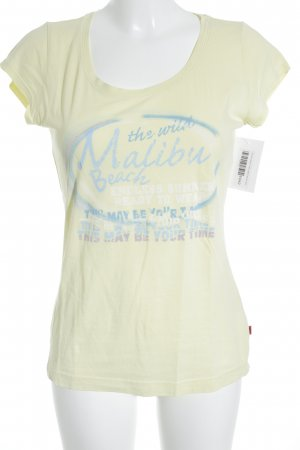 QS by s.Oliver T-Shirt gelb Casual-Look