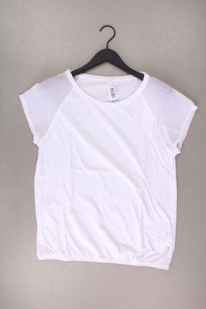 QS by s.Oliver T-Shirt Größe XL Kurzarm weiß aus Baumwolle