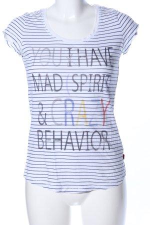 QS by s.Oliver T-Shirt Schriftzug gedruckt Casual-Look