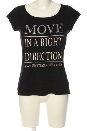 QS by s.Oliver T-Shirt schwarz Schriftzug gedruckt Casual-Look