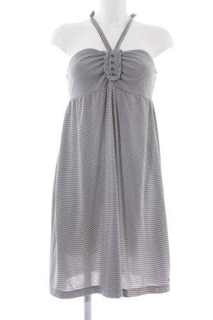 QS by s.Oliver Trägerkleid weiß-grau Streifenmuster schlichter Stil