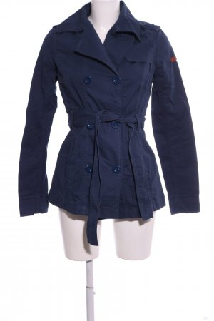 QS by s.Oliver Trenchcoat blau Casual-Look