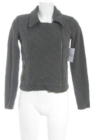 QS by s.Oliver Übergangsjacke dunkelgrau-silberfarben schlichter Stil