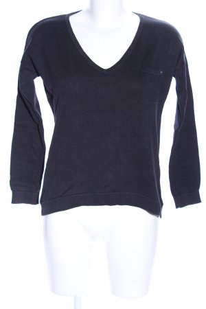 QS by s.Oliver V-Ausschnitt-Pullover blau Casual-Look