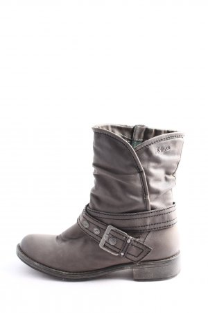 QS by s.Oliver Wide Calf Boots light grey casual look
