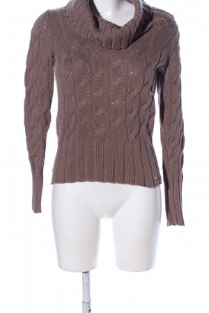 QS by s.Oliver Zopfpullover braun Zopfmuster Casual-Look