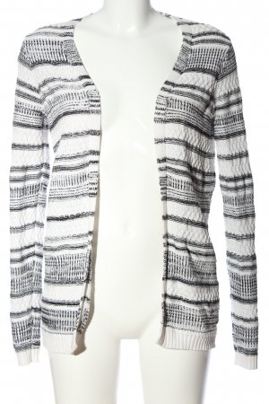 QS by s.Oliver Cable Sweater white-black striped pattern casual look