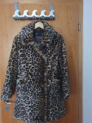 QS by s.Oliver Fake Fur Coat multicolored