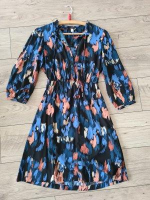 QS by s.Oliver Sukienka typu babydoll niebieski neonowy-ciemnoniebieski
