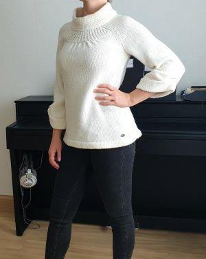 QS sOliver Wollpullover Longsleeve Sweater weißer warmer Strick Rollkragenpullover