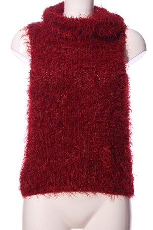 QS Style Rollkragenpullover rot Casual-Look