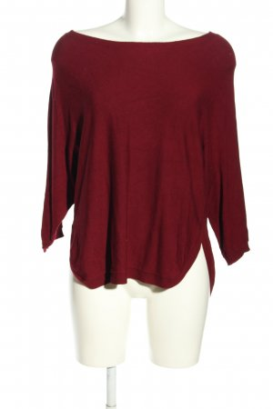 QS Style Rundhalspullover rot Casual-Look