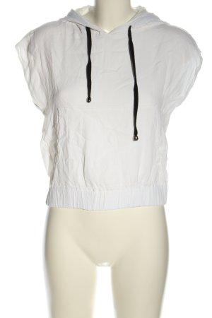 Qu Zu Top à capuche blanc style décontracté