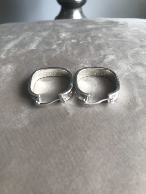 0039 Italy Silver Earrings silver-colored