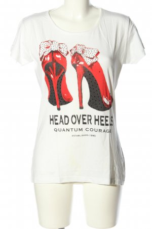 Quantum Courage T-Shirt Motivdruck Casual-Look