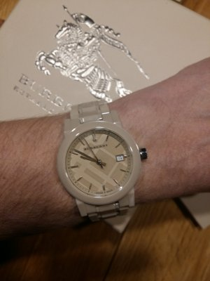 Burberry Analog Watch silver-colored-beige
