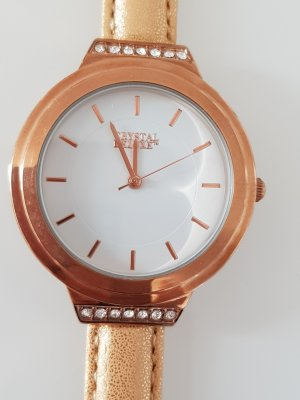 Crystal Deluxe Watch With Leather Strap rose-gold-coloured