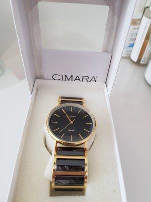 Cimara Zegarek analogowy czarny-złoto