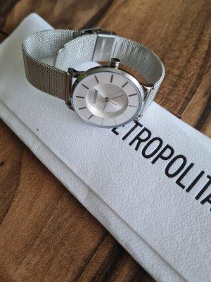 Metropolitan Reloj con pulsera metálica color plata