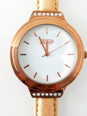 Orologio analogico bianco-oro