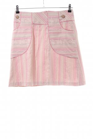 Minirock pink-creme Allover-Druck Casual-Look
