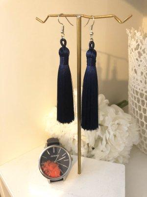 Zara Bungeloorbellen donkerblauw