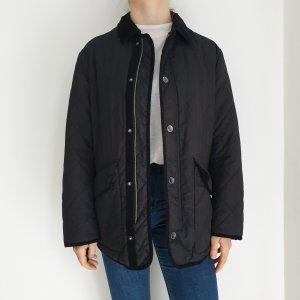 Quattro Jacke Stepp steppjacke True Vintage Oversize Mantel Trenchcoat Parka Schwarz