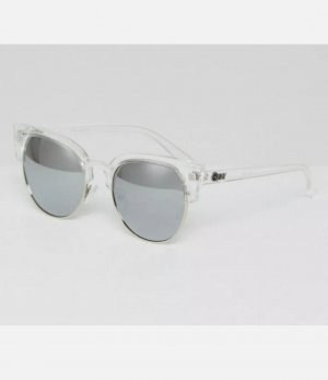 Quay Oval Sunglasses silver-colored