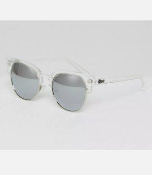 Quay Oval Sunglasses silver-colored