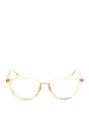 Quay Glasses light orange casual look