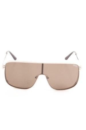 Quay Brille schwarzbraun extravaganter Stil