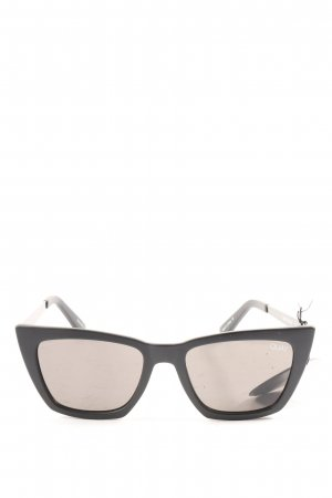 Quay Butterfly Glasses black printed lettering casual look