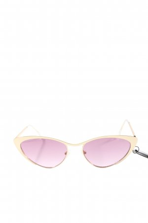 Quay Butterfly Glasses gold-colored wet-look