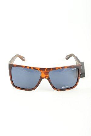 Quay eckige Sonnenbrille hellorange-braun abstraktes Muster Casual-Look