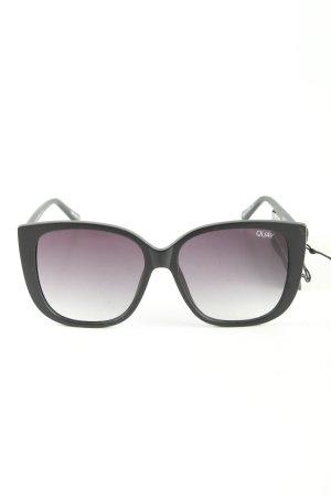 Quay Angular Shaped Sunglasses black business style
