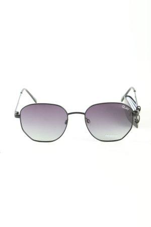 Quay eckige Sonnenbrille schwarz Business-Look