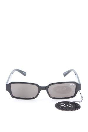 Quay eckige Sonnenbrille schwarz Casual-Look