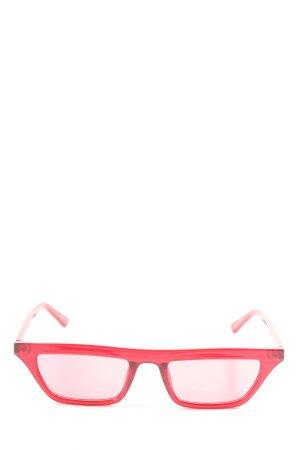 Quay Occhiale da sole spigoloso rosso stile casual