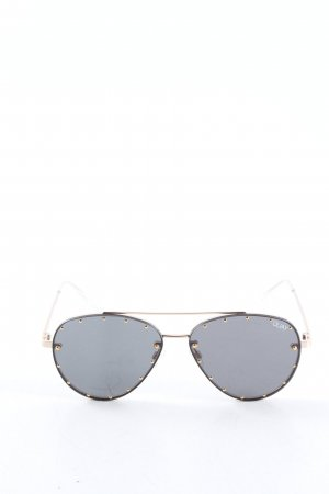 Quay Karée Brille goldfarben-schwarz Casual-Look