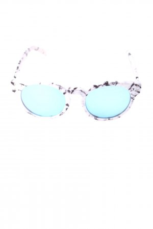 Quay ovale Sonnenbrille Allover-Druck Casual-Look