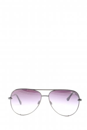 Quay ovale Sonnenbrille lila Casual-Look