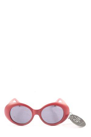 Quay Occhiale da sole ovale rosa stile casual
