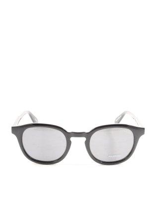 Quay Occhiale da sole ovale nero stile casual