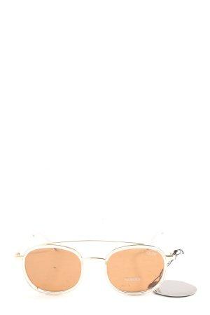 Quay Occhiale da sole ovale marrone stile casual
