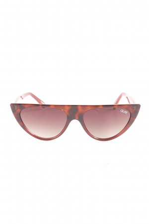 Quay ovale Sonnenbrille dunkelrot