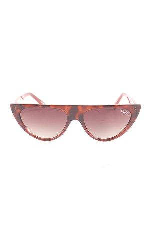 Quay Oval Sunglasses dark red
