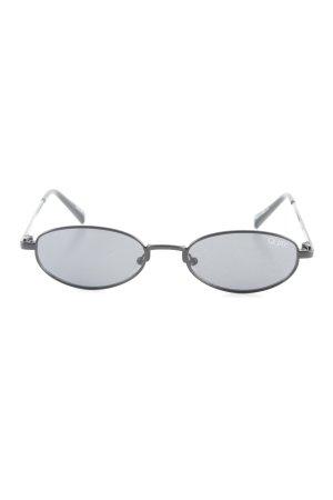 Quay ovale Sonnenbrille schwarz Casual-Look