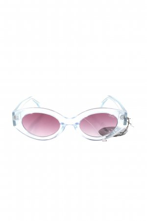 Quay Retro Glasses white-lilac casual look