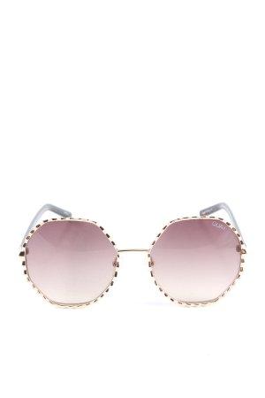 Quay Occhiale da sole rotondo rosa-marrone Colore sfumato stile casual